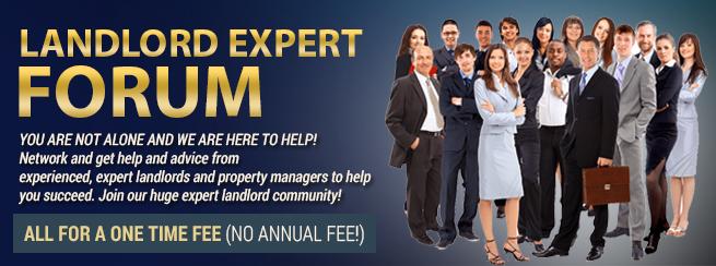 Landlords EXPERT forum banner